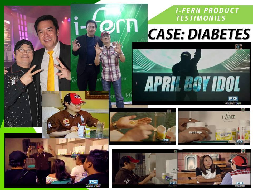 April Boy Regino eyesight recovered from Diabetes with FERN-D